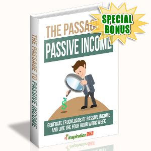 Special Bonuses - November 2017 - The Passage To Passive Income