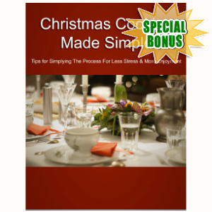 Special Bonuses - November 2017 - Christmas Cooking Made Simple