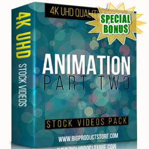 Special Bonuses - November 2017 - Animation 4K UHD Stock Videos Part 2 Pack