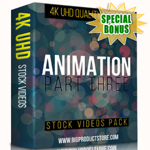 Special Bonuses - November 2017 - Animation 4K UHD Stock Videos Part 3 Pack