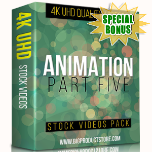 Special Bonuses - November 2017 - Animation 4K UHD Stock Videos Part 5 Pack