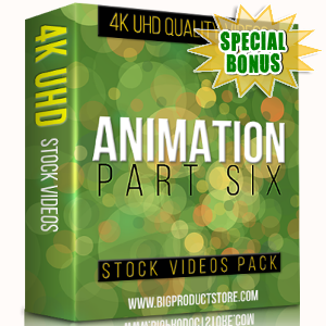 Special Bonuses - November 2017 - Animation 4K UHD Stock Videos Part 6 Pack