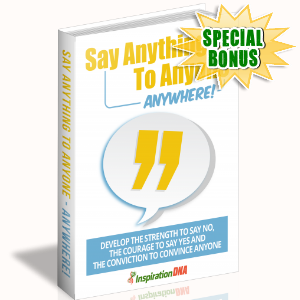 Special Bonuses - December 2017 - Say Anything To Anyone Anywhere