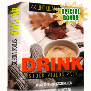 Special Bonuses - December 2017 - Drink 4K UHD Stock Videos Pack
