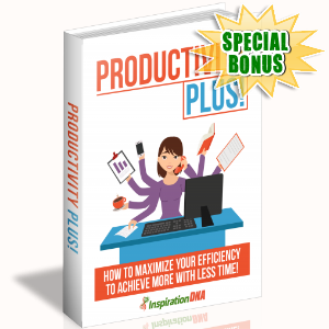 Special Bonuses - December 2017 - Productivity Plus