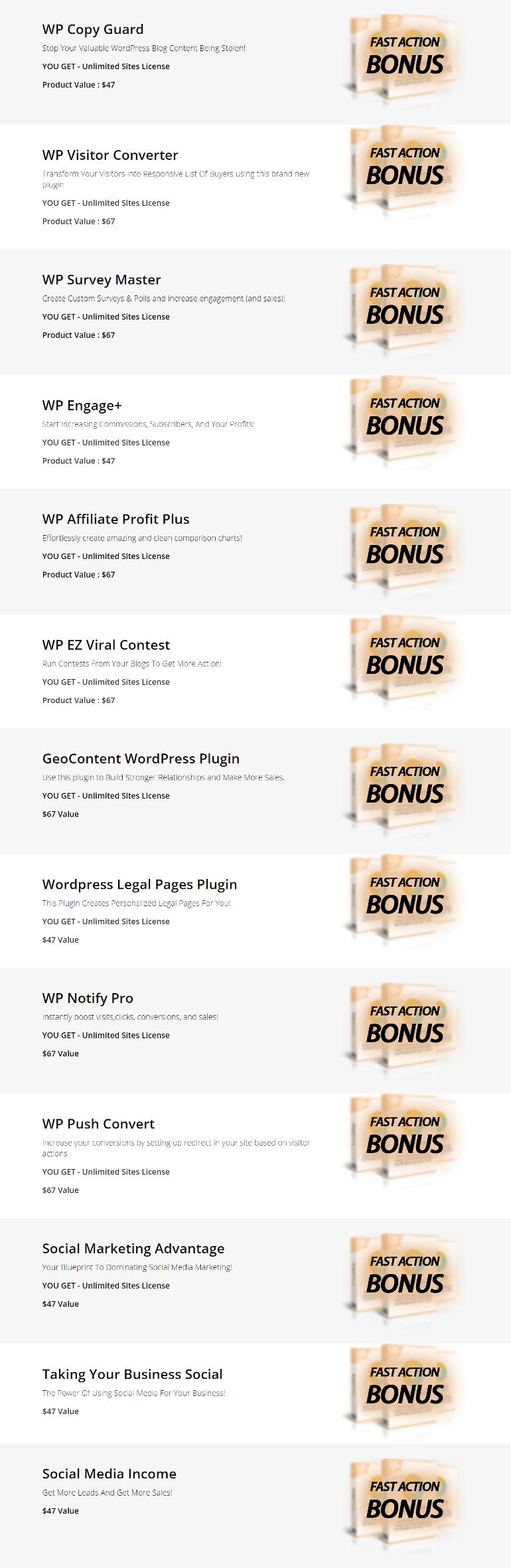 WP Social Contact Bonuses