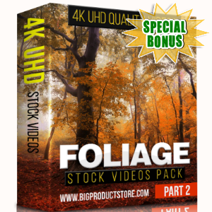 Special Bonuses - January 2018 - Foliage 4K UHD Stock Videos Part 2 Pack