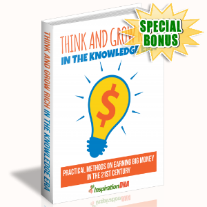 Special Bonuses - January 2018 - Think And Grow Rich In The Knowledge Era