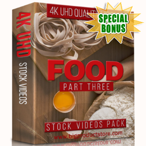Special Bonuses - January 2018 - Food 4K UHD Stock Videos Part 3 Pack