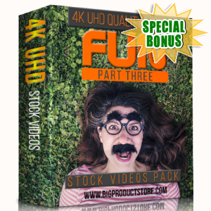 Special Bonuses - January 2018 - Fun 4K UHD Stock Videos Part 3 Pack