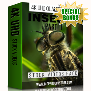 Special Bonuses - January 2018 - Insects 4K UHD Stock Videos Part 1 Pack