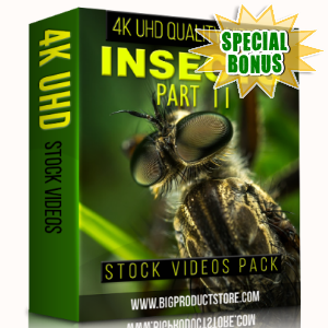 Special Bonuses - January 2018 - Insects 4K UHD Stock Videos Part 2 Pack