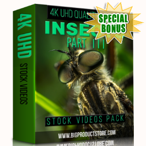 Special Bonuses - January 2018 - Insects 4K UHD Stock Videos Part 3 Pack