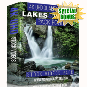 Special Bonuses - January 2018 - Lakes & Water 4K UHD Stock Videos Pack 4