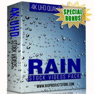 Special Bonuses - January 2018 - Rain 4K UHD Stock Videos Pack