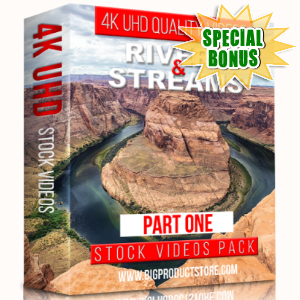 Special Bonuses - January 2018 - Rivers & Streams 4K UHD Stock Videos Part 1 Pack