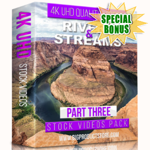 Special Bonuses - January 2018 - Rivers & Streams 4K UHD Stock Videos Part 3 Pack