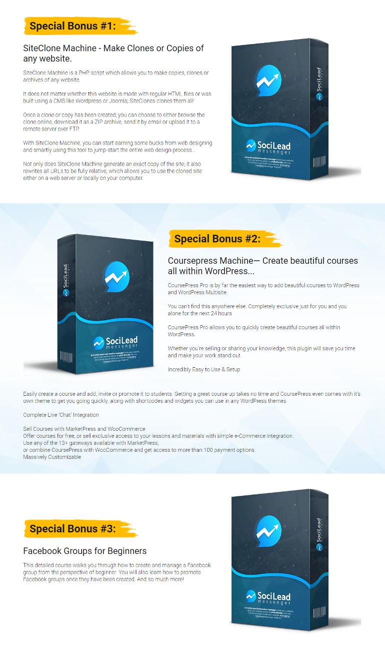 SociLead Messenger Bonuses