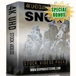 Special Bonuses - February 2018 - Snow 4K UHD Stock Videos Pack