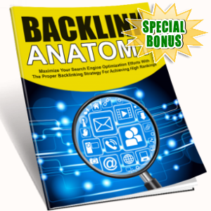 Special Bonuses - April 2018 - Backlink Anatomy