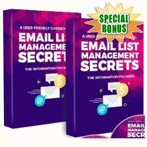 Special Bonuses - May 2018 - Email List Management Secrets Audio Pack