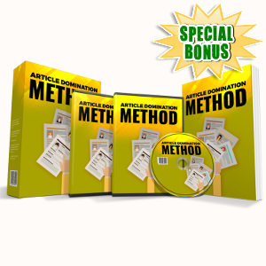 Special Bonuses - May 2018 - Article Domination Method Audio Pack