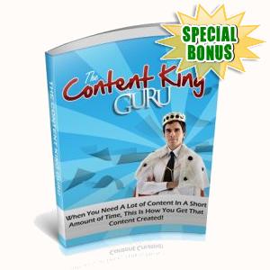 Special Bonuses - June 2018 - Content King Guru