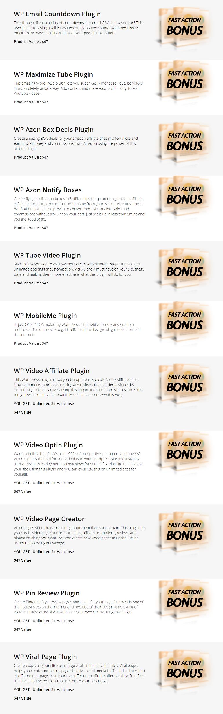WP Freshstart 5 Bonuses