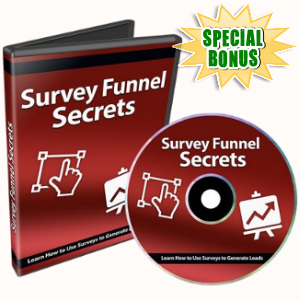 Special Bonuses - July 2018 - Survey Funnel Secrets Video Series Pack