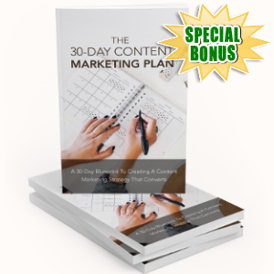 Special Bonuses - August 2018 - The 30-Days Content Marketing Plan Pack