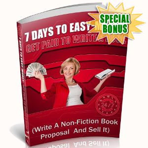 Special Bonuses - August 2018 - 7 Days To Easy-Money - Get Paid To Write A Book