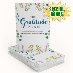 Special Bonuses - September 2018 - The Gratitude Plan Pack