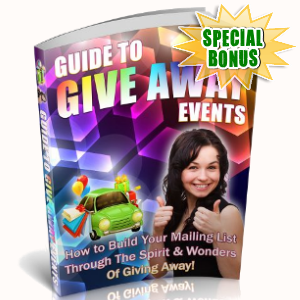 Special Bonuses - September 2018 - Guide To Give Away Events