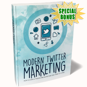 Special Bonuses - October 2018 - Modern Twitter Marketing Pack