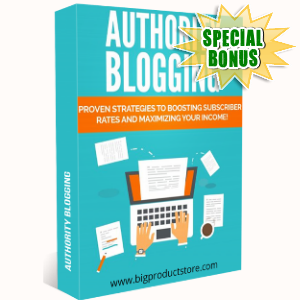 Special Bonuses - October 2018 - Authority Blogging