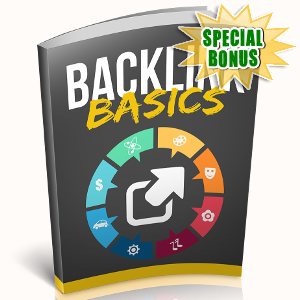 Special Bonuses - October 2018 - Backlink Basics