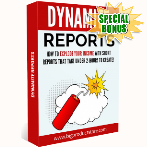 Special Bonuses - October 2018 - Dynamite Reports