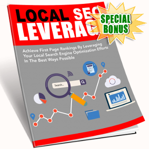 Special Bonuses - October 2018 - Local SEO Leverage Pack