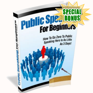 Special Bonuses - October 2018 - Public Speaking For Beginners