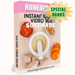 Special Bonuses - November 2018 - Homeopathy Instant Mobile Video Site Software
