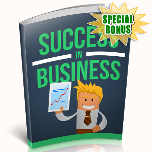 Special Bonuses - November 2018 - Success In Business
