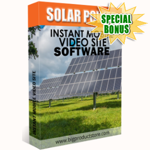 Special Bonuses - December 2018 - Solar Power Instant Mobile Video Site Software