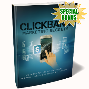 Special Bonuses - December 2018 - Clickbank Marketing Secrets Pack