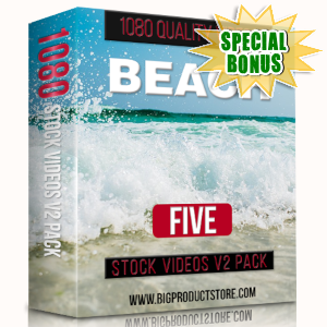 Special Bonuses - March 2019 - Beach 5 - 1080 Stock Videos V2 Pack