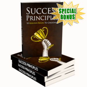 Special Bonuses - March 2019 - Success Principles Pack