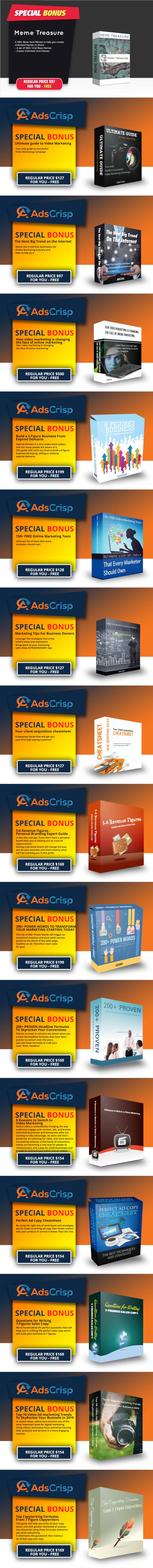 AdsCrisp Bonuses