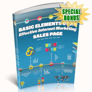 Special Bonuses - May 2019 - Basic Elements Of An Effective Internet Marketing Salespage