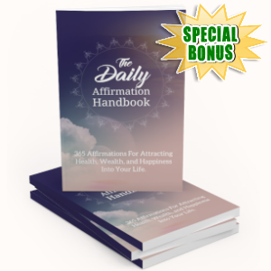 Special Bonuses - May 2019 - The Daily Affirmation Handbook Pack