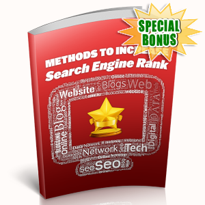 Special Bonuses - May 2019 - Methods To Increase Search Engine Rank