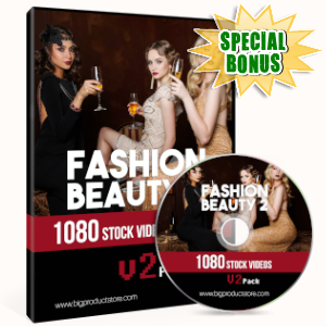 Special Bonuses - June 2019 - Fashion Beauty 2 - 1080 Stock Videos V2 Pack